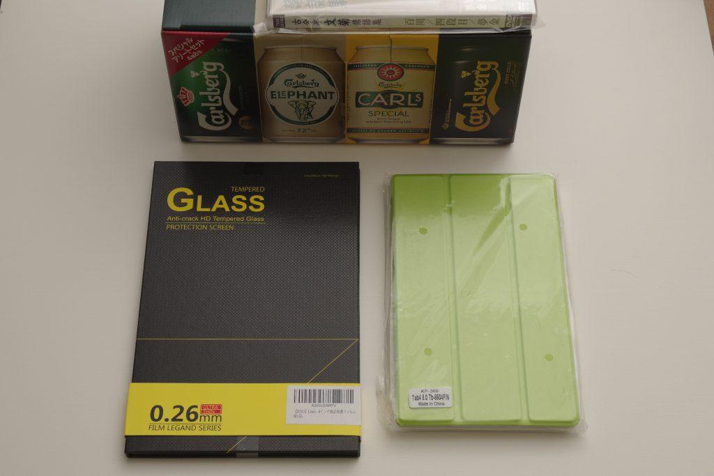 TAB4 8用のケースと液晶保護フィルム